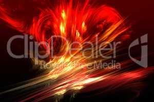 "Fractal image: ""Virtual volcano"""