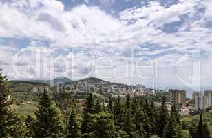 Panoramic view of resort town Sochi.