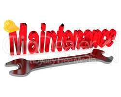 Maintenance concept, 3d illustration
