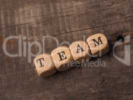 Dices with the word team