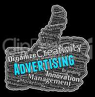 Advertising Thumbs Up Shows Promote Advertisments And Ads