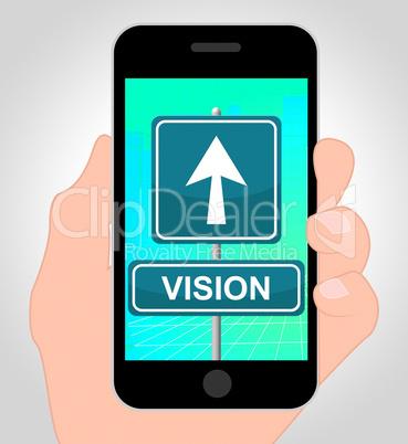 Vision Symbols Show Corporate Planning 3d Illustration