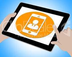 Voip Online Shows Voice Over Broadband 3d Illustration