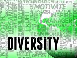Diversity Words Indicates Mixed Bag And Different