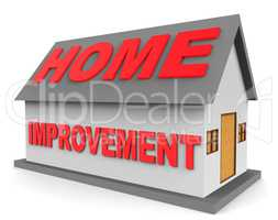 Home Improvement Indicates House Renovation 3d Rendering