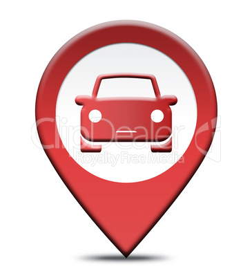 Car Rental Location Shows Automobile Hire Places