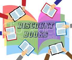Discount Books Shows Fiction Promotion And Savings