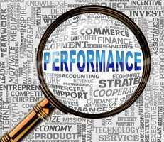 Performance Magnifier Indicates Efficiency Evaluation 3d Renderi