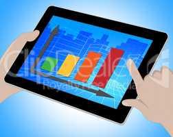 Graph Online Means Forecast Diagram 3d Illustration