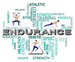 Fitness Endurance Means Working Out And Exercise