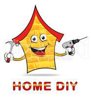 Home Diy Represents Do It Yourself Home