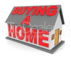 Buying A Home Shows Real Estate 3d Rendering