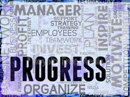 Progress Words Show Betterment Headway And Advancement