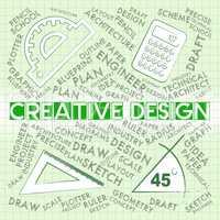 Creative Design Represents Graphic Innovation And Visualization