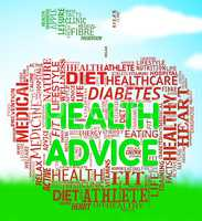 Health Advice Means Wellbeing Guidance And Advisory