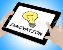 Innovation Online Means Creative Breakthrough 3d Illustration