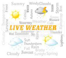Live Weather Represents Meteorological Conditions And Outlook No