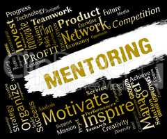 Mentoring Words Shows Adviser Councellor And Consultant