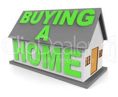 Buying A Home Shows House Purchases 3d Rendering