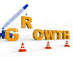 Increase Growth Shows Growing Improvement 3d Rendering