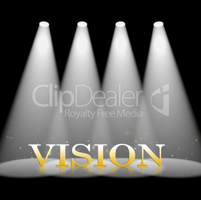 Vision Spotlight Shows Missions Objectives 3d Illustration