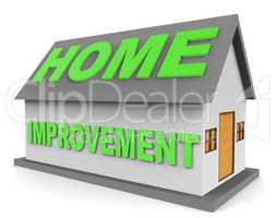 Home Improvement Indicates Property Renovation 3d Rendering