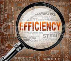 Efficiency Magnifier Represents Productive Improvement 3d Render