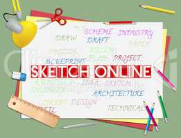 Sketch Online Means Internet Drawing And Design