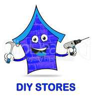 Diy Stores Represents Do It Yourself 3d Illustration