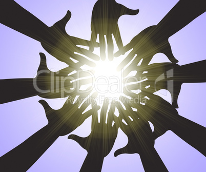 Hands In Sky Means Intimacy Togetherness And Fellowship