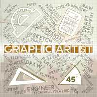 Graphic Artist Means Creative Designer And Recruitment