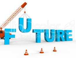 Build Future Represents Building Destiny 3d Rendering