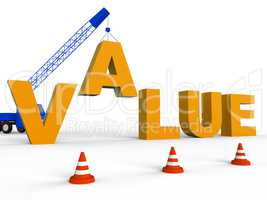 Build Value Means Worth Prices 3d Rendering