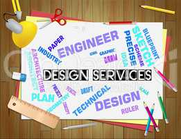 Design Services Shows Graphic Creation And Development
