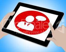 Voip Online Showing Voice Over Broadband 3d Illustration