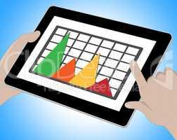 Graph Online Means Graphs Forecast 3d Illustration