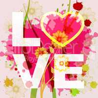 Love Heart Represents Compassion Fondness And Affection