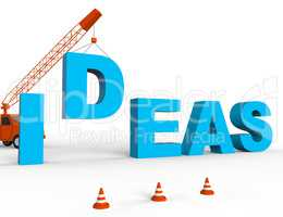 Build Ideas Represents Concept Creativity 3d Rendering