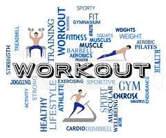 Workout Fitness Means Getting Fit And Training