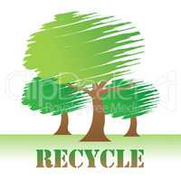 Recycle Trees Shows Earth Friendly And Reuse