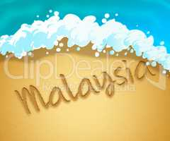 Malaysia Holiday Shows Vacation Asia 3d Illustration