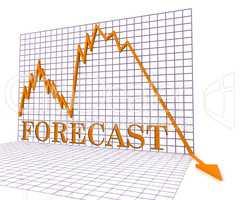 Forecast Graph Negative Represents Economic Downturn 3d Renderin