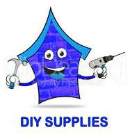 Diy Supplies Represents Do It Yourself Renovation