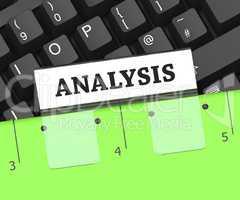 Analysis File Indicates Data Analytics 3d Rendering