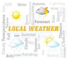 Local Weather Means City Or Town Forecast