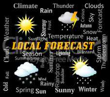 Local Forecast Indicates City Weather And Outlook