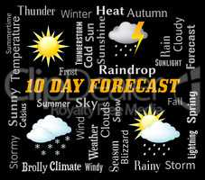Ten Day Forecast Represents Bad Weather And Forecasting