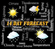 Fourteen Day Forecast Represents Two Weeks Forecasting