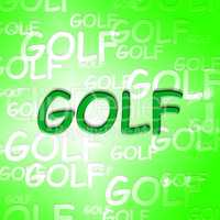 Golf Words Shows Recreation Golfer And Golfing