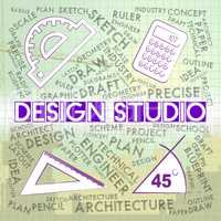Design Studio Shows Designer Office And Creation